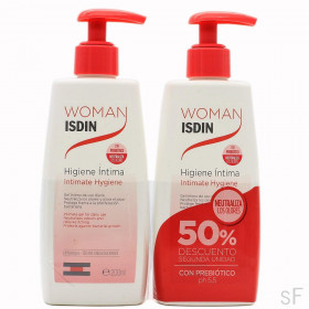 Duplo Woman Isdin Gel Higiene íntima 2 x 200 ml