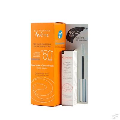 Crema coloreada SPF50+ - Avene (50 ml) + Regalo Máscara de pestañas