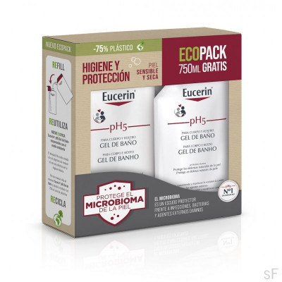 Eucerin PH 5 Gel de Baño EcoPack 1L + 750 ml Gratis