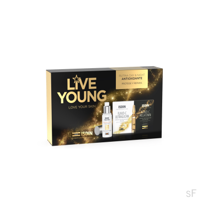 Pack Live Young Age repair + Isdinceutics Flavo C Ultraglican / Melatonin
