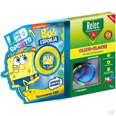 Relec Pulsera Antimosquitos Click Clack + Regalo Bob Esponja Natación